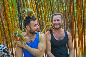 josh and fernando with monkeys